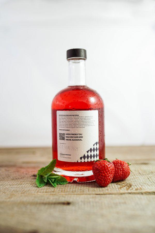 Erdbeer Mojito Cocktail aus der Flasche bestellen - Bavarian Cocktails Online Shop